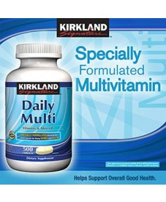 Kirkland Signature Daily Multi Vitamin  Mineral with Lycopene and Lutein, 500 เม็ด