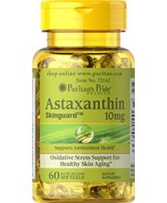 Astaxanthin 10 mg.60 softgels puritan [made in USA]แอสตาแซนธิน