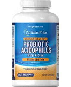 Puritan Probiotic Acidophilus with Pectin  3 billion100 capsules