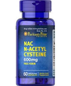 N-Acetyl Cysteine (NAC) 600 mg. 60 Capsules แนค สารตั้งต้นกลูตา