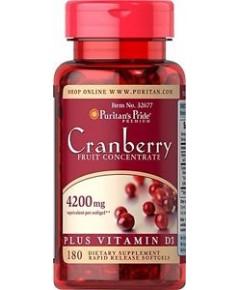 puritan pride Cranberry Fruit Concentrate Plus Vitamin D3 4200 mg.180softgels