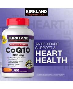 KIRKLAND  COQ10 300 mg.100  softgels ปกป้องริ้วรอย,ชะลอวัย,ช่วยให้ผิวขาวใส