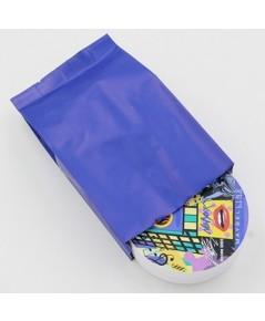 ซองฟอยล์เนื้อด้านขยายข้างสีน้ำเงิน 8x11+4 cm. 100 ชิ้น