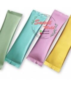 ซองฟอยล์สีม่วงพาสเทลขนาด 3x11 cm 100 ชิ้น