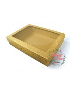 กล่องของขวัญเมทัลลั๊ค ปั๊มฟอยล์สีทอง แพ็ค10ชิ้น ขนาด 19.1x26.7x5.1cm