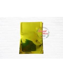 ซองฟอยล์สีเขียวอมเหลือง 100 ชิ้น  ขนาด 7.7x12.5 cm