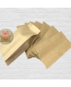 ซองฟล์อยขยายข้างสีกระดาษคราฟ ขนาด 7.5*21+4 100ชิ้น