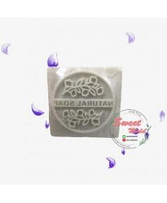 สแตมป์สบู่ลายวงกลมใบไม้NATURAL SOAP