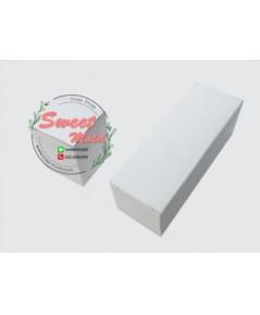 กล่องกระดาษปิดบนล่างสีขาว 100 ชิ้น ขนาด 7x7x13.7 cm.