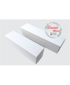 กล่องกระดาษปิดบนล่างสีขาว 100 ชิ้น ขนาด 7x7x30 cm.