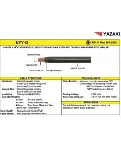 สายไฟฟ้า NYY-GRD ยี่ห้อ Thai Yazaki มีกราวด์ ขนาด 2x4/4 Sqmm. สายไฟฝังดิน,เดินในน้ำได้ ราคาถูก