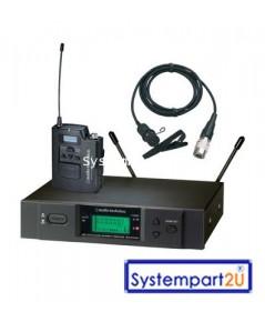 ATW-3110b/AT831cW ยี่ห้อ Audio-Technica UHF Wireless ไมค์ไวร์เลสติดปกเสื้อ1 ตัวรับ1 เบลทแพ็ค1ราคาถูก