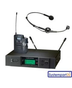 ATW-3110b/M75cW ยี่ห้อ Audio-Technica UHF Wireless ไมค์เฮดโฟน1 ตัวรับ1 เบลทแพ็ค1ราคาถูก