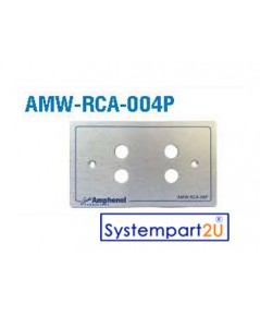 AMW-RCA-004P ยี่ห้อ  Amphenol Audio Outlet Panel for RCA 4 Port สำหรับงานระบบเสียง ราคาถูก