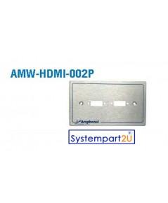 AMW-HDMI-002P ยี่ห้อ  Amphenol Audio Video Outlet Panel for HDMI 2 Port ราคาถูก