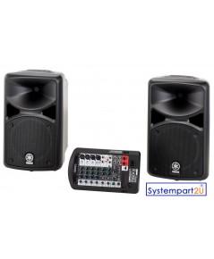 StagePas 400i ยี่ห้อ Yamaha ชุดเครื่องเสียง Portable PA System พร้อม Power Mixer 400W ลำโพง LF 10inc