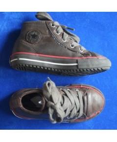 *ขายแล้ว*[used มือสอง] รองเท้าเด็ก Converse All star Hi leather สีน้ำตาล เป็นหนังค่ะ ไซส์ 8 usa