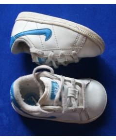 *ขายแล้ว*[used มือสอง] รองเท้าเด็ก Nike Infant สีขาว-ฟ้า ไซส์ 4c US
