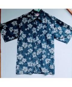 เสื้อฮาวาย ลายดอกไม้ ผ้าสองด้าน Made in USA แบรนด์ Go Barefoot ไซส์ M  สวยมากค่ะ