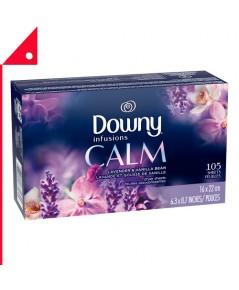 Downy : DWN LNV-105* แผ่นหอมปรับผ้านุ่ม Infusions Dryer Sheets, Lavender  Vanilla , 105 count