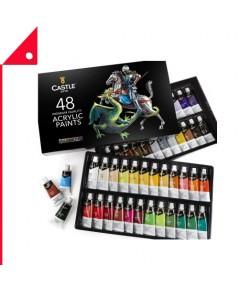 Castle Art : CTA4336967231* ชุดสีอะครีลิค Acrylic Paint Set - 48