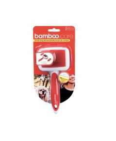 Bamboo 90081 Small Dog/Cat Wier/Bristle Brush  Combs