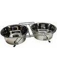 PawMaster  6375 Stainless Steel Double Diner