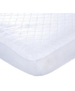 Carter\'s C3FQPD:Carter\'s Keep Me Dry Waterproof Fitted Quilted Crib Pad, White