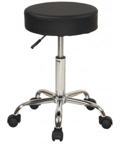 Sierra Comfort : SRCSC-503M* เก้าอี้ Adjustable Stool with Wheels and Metal Plated Frame, Black