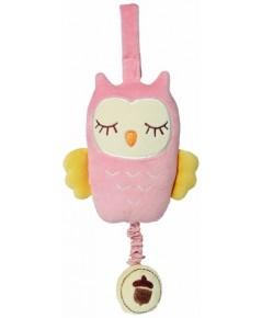Green Point : GRP46403 ของเล่นผ้ามีเสียง Owl Musical - Pink