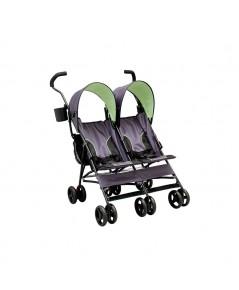 Delta Children : DLC11701-013* รถเข็นเด็กแฝด LX Side by Side Tandem Umbrella Stroller, Lime Green