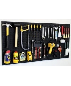 WallPeg : WLPAM24242BK 24x48 inch Garage Pegboard Kit with Pegboard