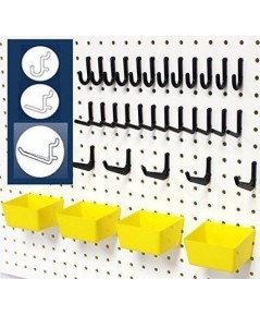 WallPeg : WLPAM302-2* 43 Pc. Peg Board Storage System