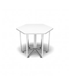 OFM : OFM66T-WHT* โต๊ะ Hex Table White Top with Crome Frame