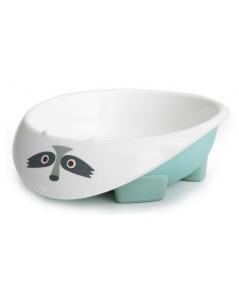 Green Point : GRP46602 ชามอาหารเด็ก Eco Bowl - Light Blue Raccoon