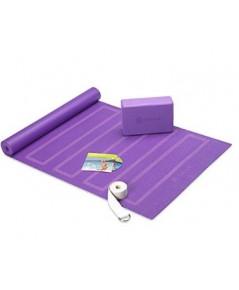 Gaiam : GIA05-61732* ชุดอุปกรณ์สำหรับการเล่นโยคะ Beginner\'s Yoga Starter Kit