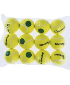 Gamma : GMACG78T00* ลูกเทนนิส Sport Kids Training (Transition) Balls 78 Green Dot (12-PK)