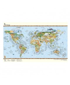 Awesome Maps : AWSAMZ001* แผนที่โลก Surftripmap The Worldmap of Surfing Poster