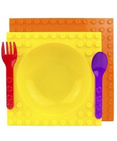 Placematix : PMT 00774* ชุดจานอาหาร Kids 4 Piece Mealtime Set