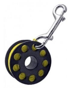 Trident Diving Equipment : TDEDR-05YL-2* ที่เก็บเชือกดำน้ำ Finger Reel with Brass Clip Wreck Scuba D