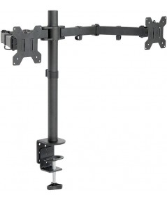 VIVO : VIVV002* อุปกรณ์ยึดจอภาพ Dual LCD LED Monitor Desk Mount Stand