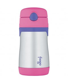 THERMOS : TRMBS535PK* ขวดน้ำก็บอุณหภูมิ FOOGO Vacuum Insulated Stainless Steel 10oz. Straw Bottle