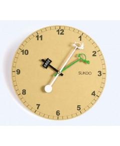 Sukoo : SKO74421* นาฬิกาแขวนผนัง Rustic Wooden 10\quot; Non Ticking Wall Clock