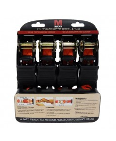 Mann : MAN02033* สายรัด Ratchet Tie Downs Straps with S-hooks 4pk.