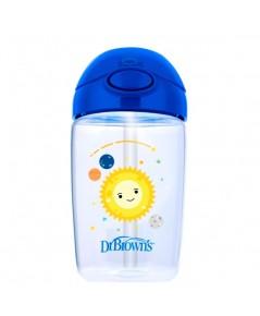 Dr.Brown\'s : DRBTC21015 ถ้วยหัดดื่ม 12 oz / 350 ml Straw Cup, Blue Planets