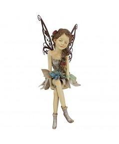 Design Toscano : DTCHF326063* อุปกรณ์ตกแต่ง  Fannie the Garden Fairy Sitting Statue