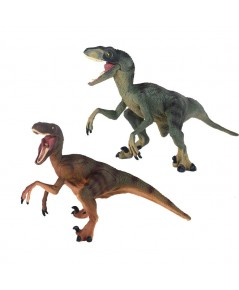 Ericoo : ERCAMZ001* โมเดลของเล่น Raptor Brother Reallistic Dinosaur Toys Figures