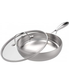 Utopia : UTPUK0158* หม้อ Stainless Steel Skillet with Glass Cover