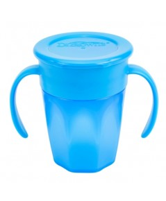 Dr.Brown\'s : DRBTC71004 ถ้วยหัดดื่ม Cheers 360 Cup w/Handles, 7oz. Blue