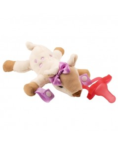 Dr.Brown\'s : DRBAC158 จุกหลอก Deer Lovey with Pink One-Piece Pacifier